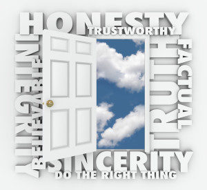 Honesty Integrity Reputation Truth Sincerity are all pricniples of authenticity